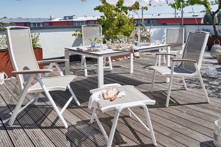 Aluminum Patio Furniture Aluminum Chaise Lounge Stack Chairs - Restaurant outdoor furniture
