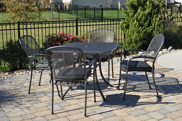 Add elegance and durability to your outdoor entertainment areas with wrought iron furniture. Our KETTLER wrought iron chairs and tables are perfect for both ... & Buy Wrought Iron Patio Furniture including Tables Chairs u0026 More ...