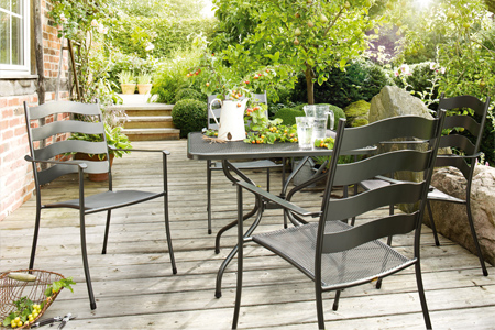 Buy wrought iron patio furniture including tables chairs - Mobilier jardin waterloo villeurbanne ...