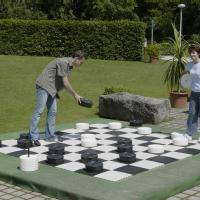 Large Checkers Toys Lawn Games