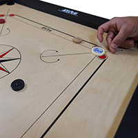 Carrom Game in Natural Finish