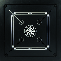 CARROM BOARD-BLACK