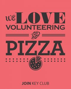 we love volunteering and pizza