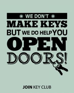 we dont make key but we do help you open doors