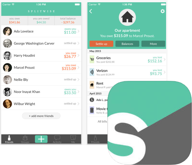 Splitwise Bill Sharing App