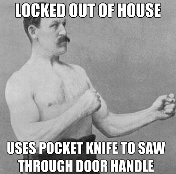 Don't saw your door handle. Think ahead with KeyMe!