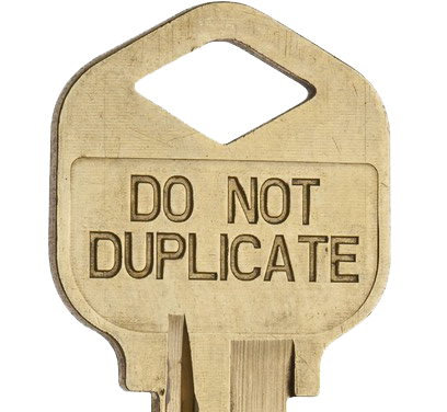 Do Not Duplicate keys