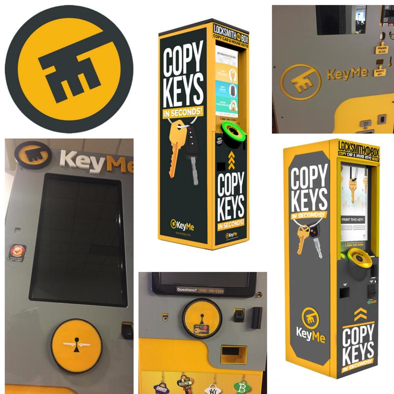 KeyMe key copying kiosks through the years.