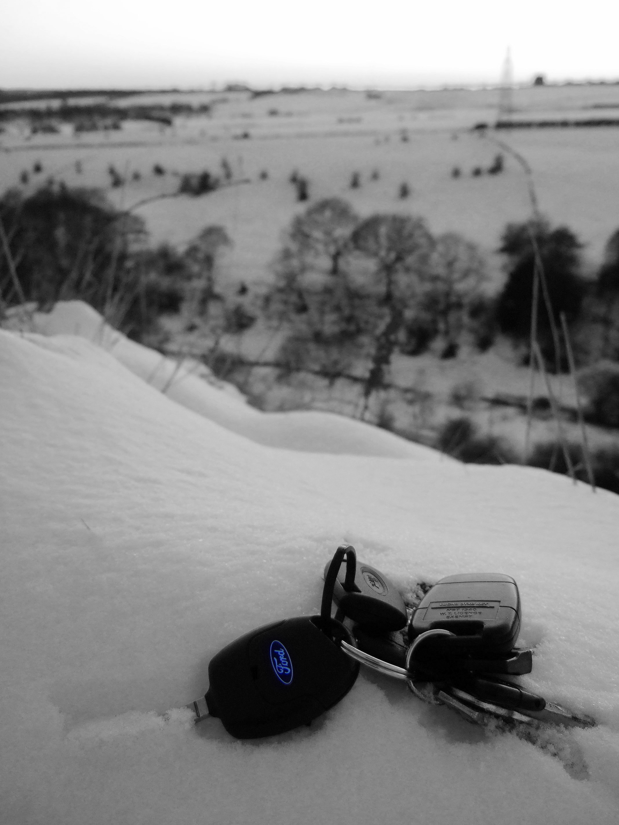Lost Keys In Snow