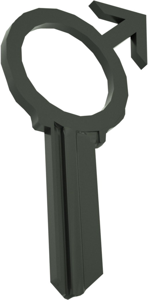 3D MALE BLACK