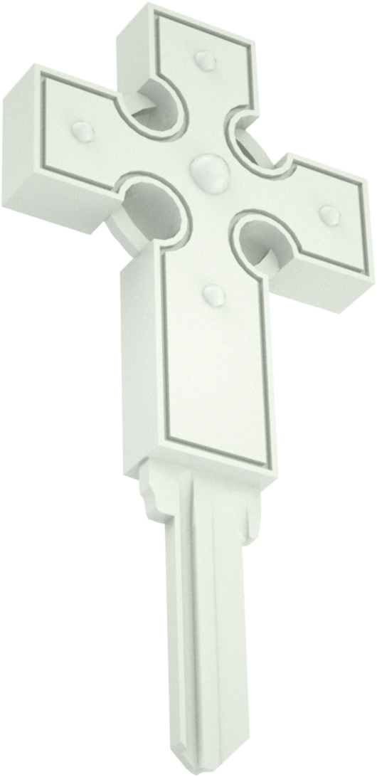 3D CROSS WHITE