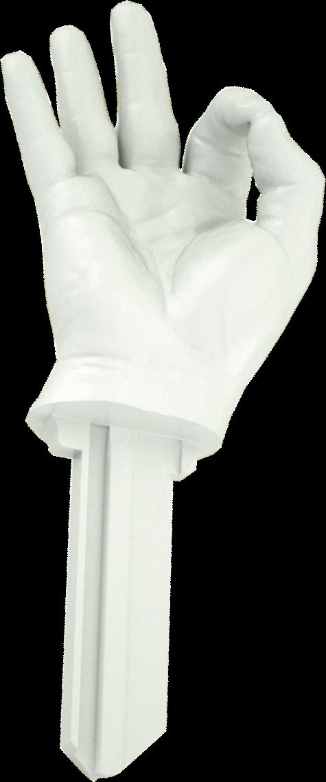 3D HAND WHITE