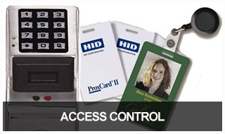 Image of a keycard access control system