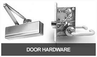 image of a commercial door closer and mortise lock