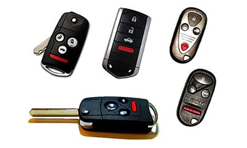 We service all Acura keys, remotes, and fobs.