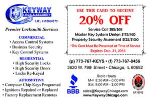 Save 20% on Service Call, Master Key System Design, and Property Security Assesment