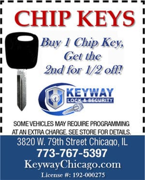 Buy one chip key get one half price