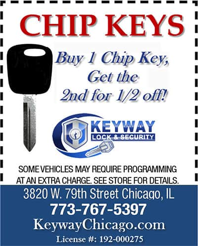 Coupon: Buy one chip key get one half price