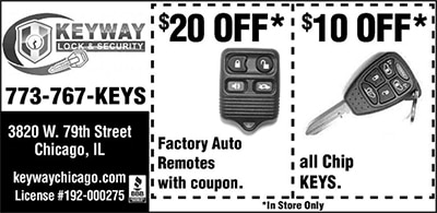 Coupon: $20 Off Remotes and $10 Off Chip Keys IN STORE ONLY