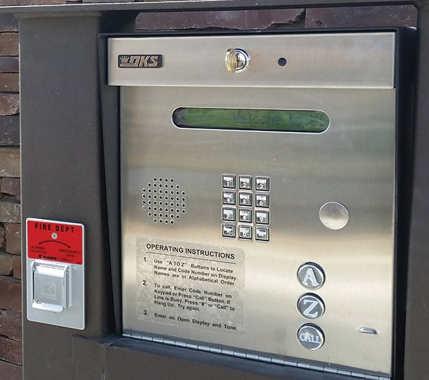 We can install a door buzzer entry system for your commercial property