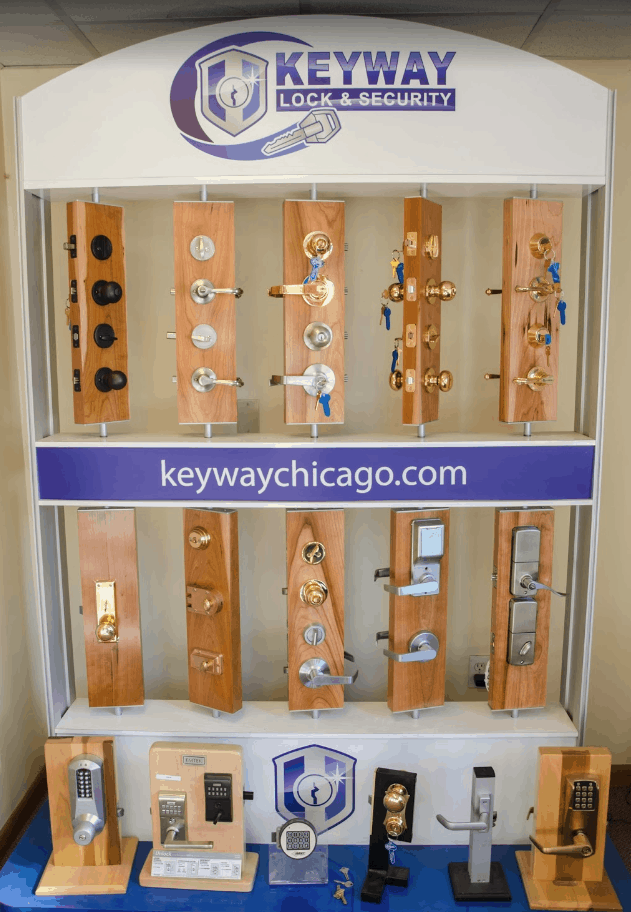 We stock a large variety of residential and commercial door hardware.