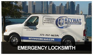 Image of Keyway Lock & Security's 24-hour locksmith van