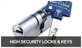 Image of a high security key and lock