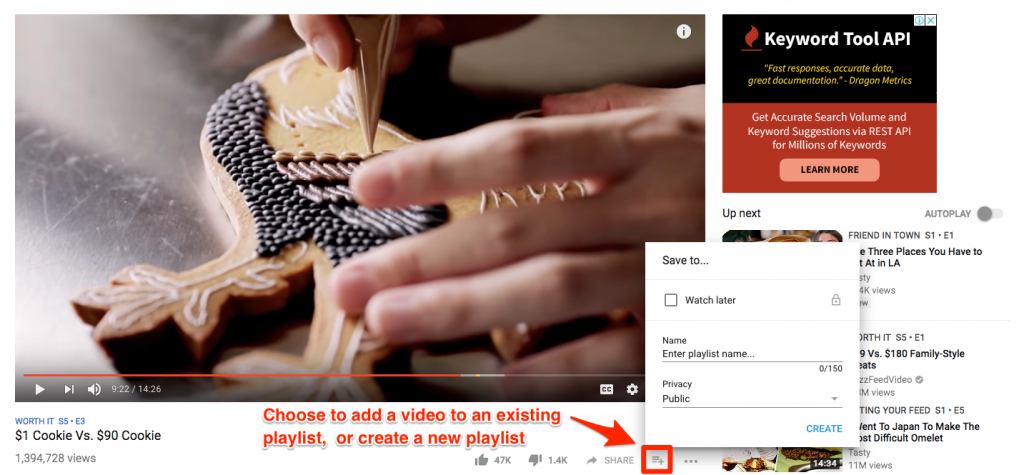 Create a playlist to increase chances of getting more YouTube views