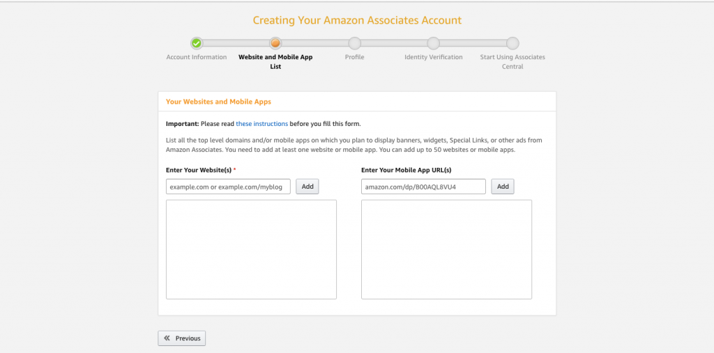 Website and Mobile App List page for Amazon affiliates
