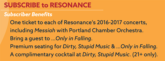 2016/2017 Resonance Ensemble Season Partial Subscription