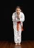 Many children can learn discipline in karate class.