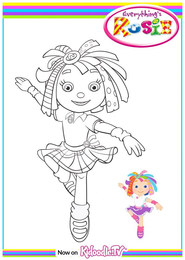 everythings rosie coloring book pages - photo#1