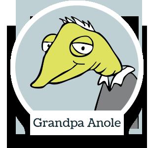 Grandpa Anole