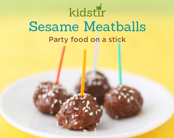 Meatballs are Party food on a stick