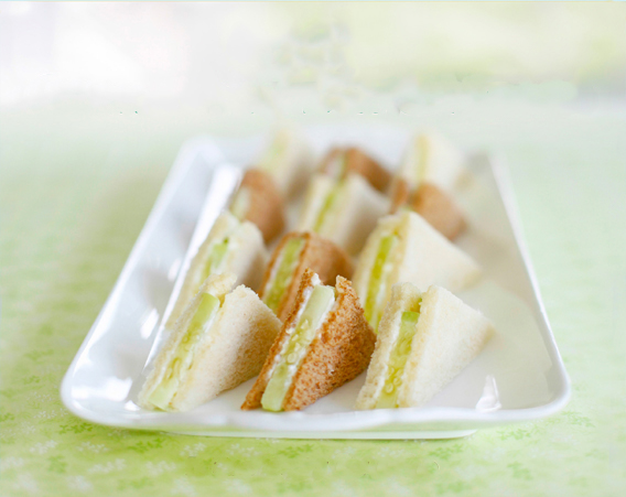 Kids Tea Party Cucumber Sandwiches Recipe