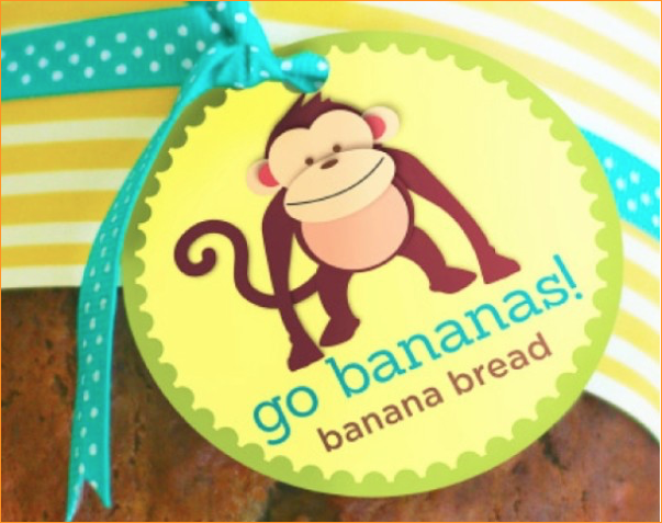 Banana Bread Gift Tags