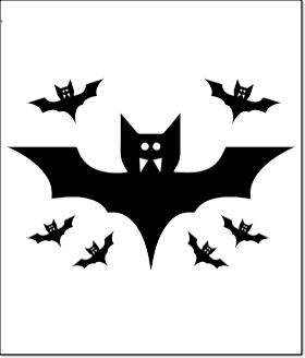 halloween pumpkin carving pattern template bats