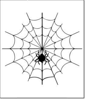 halloween pumpkin carving pattern template spider web
