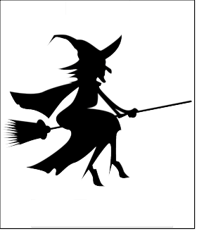 halloween pumpkin carving template witch broom