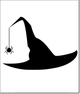 halloween pumpkin carving template witches hat