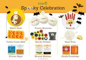 October Kids Halloween spooky Celebration cooking kit