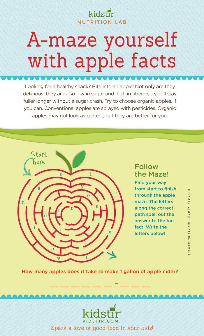 Apple Maze infographic