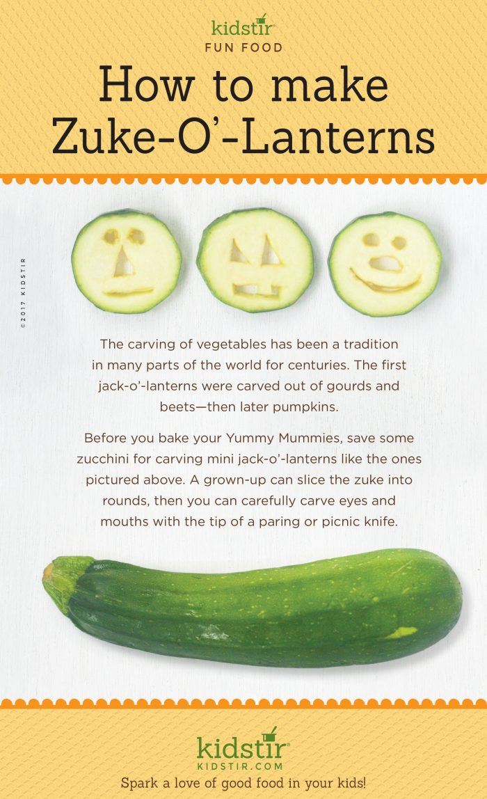 Zuke-o-Lanterns Zucchini for Kids