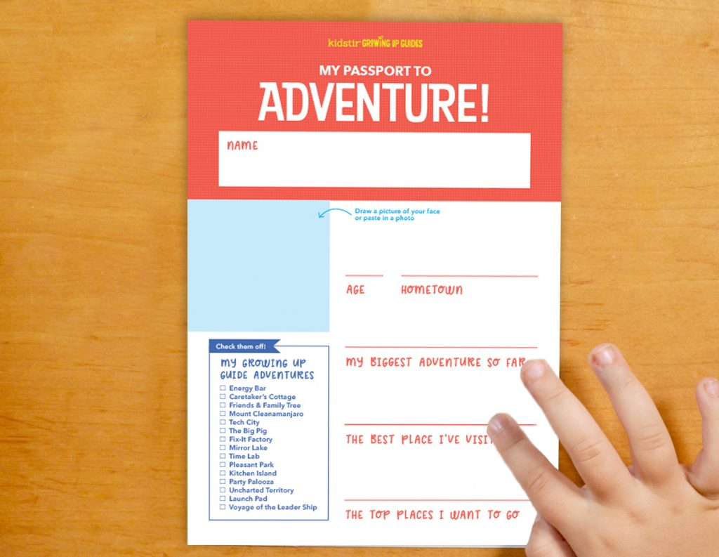 All About Me Adventure Passport