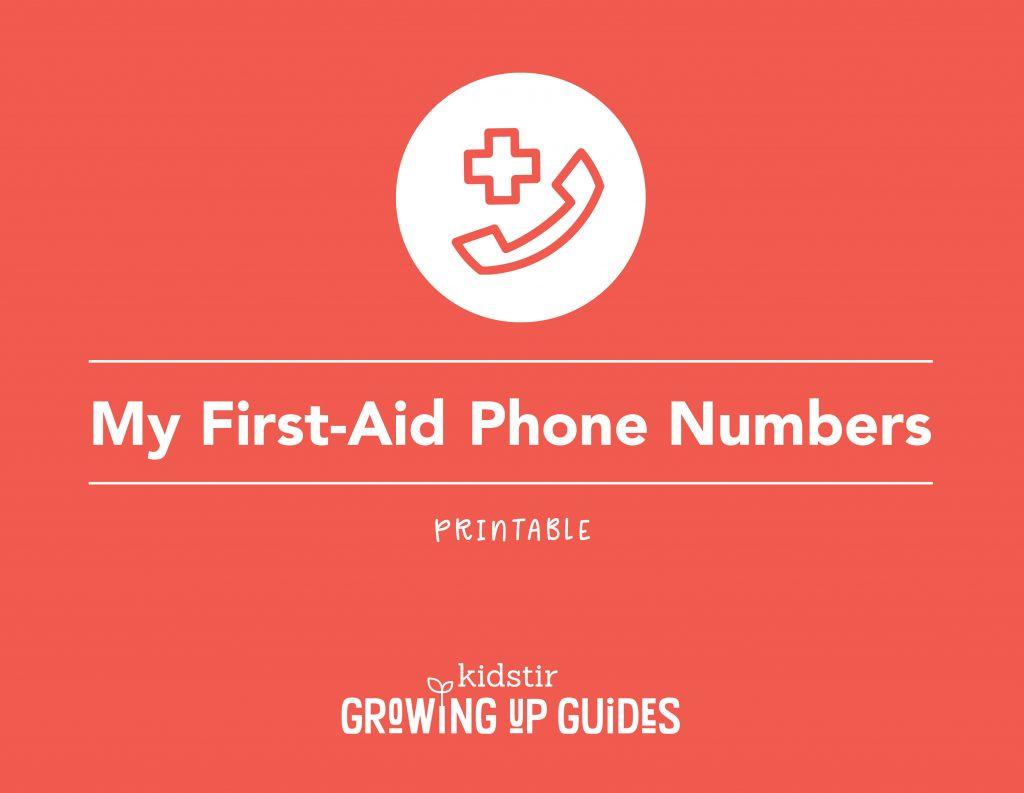 Printable Emergency Phone Numbers Label