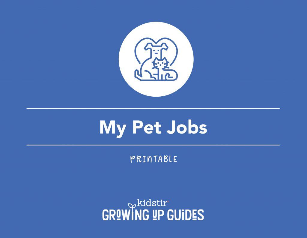 Printable Pet Responsibilities Log