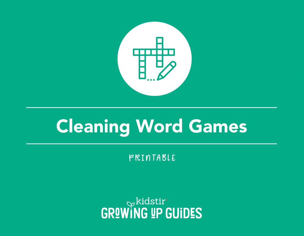 Cleaning-themed Word Games for Kids