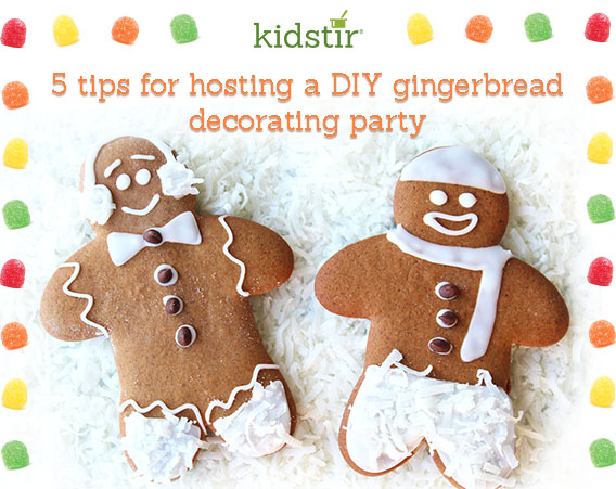 5 Tips For Hosting a Kids Gingerbread Decorating Party