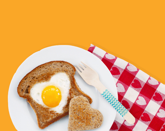 Heart Shaped Egg In a Hole