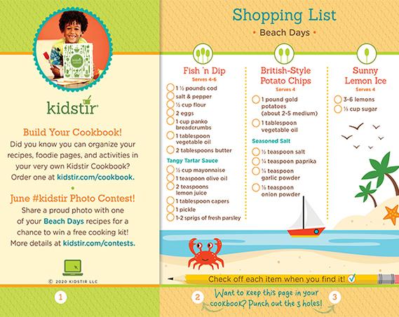 Beach Days Shopping List